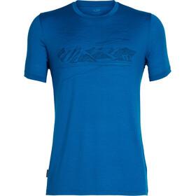 Icebreaker Tech Lite Coronet Peak t-shirt Heren blauw